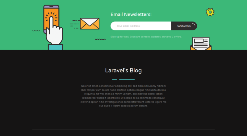 blog footer
