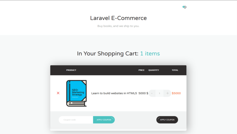 laravel ecommerce cart